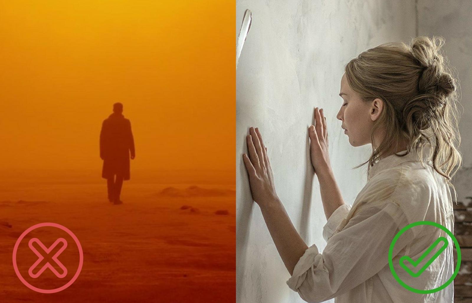 Blade Runner 2049, Pa asmeni skrejošais 2049; mother!, Māt!