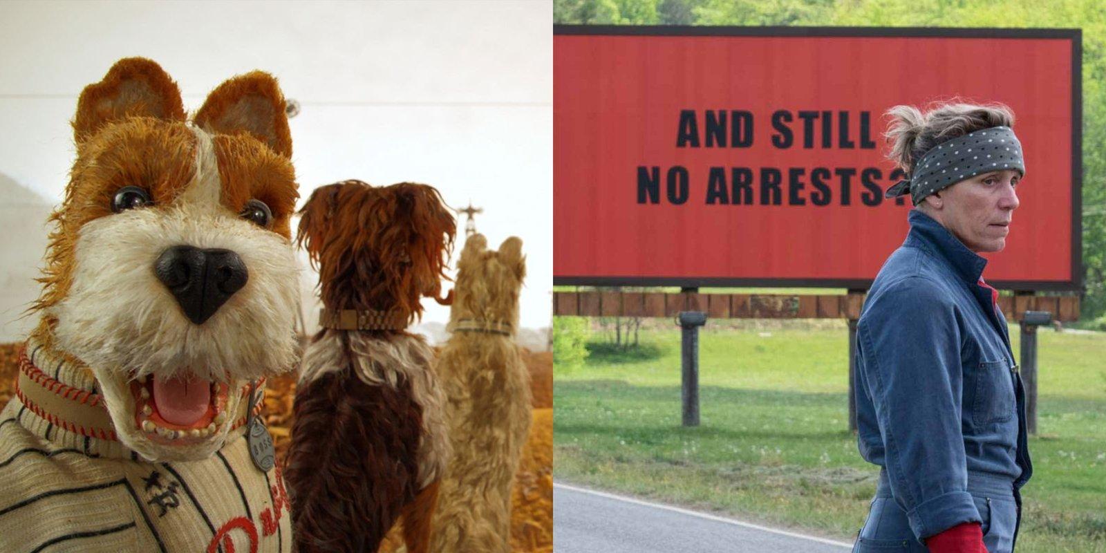 Isle of Dogs, Three Billboards Outside Ebbing, Missouri, Suņu sala, Trīs paziņojumi pie Ebingas Misūri štatā