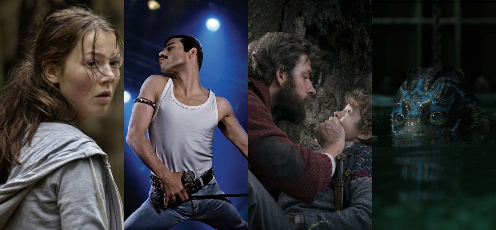 Utoya, 22. July, Bohemian Rhapsody, A Quiet Place, The Shape of Water, Ūteija, 22. jūlijs, Bohēmista rapsodija, Klusā pasaule, Ūdens forma
