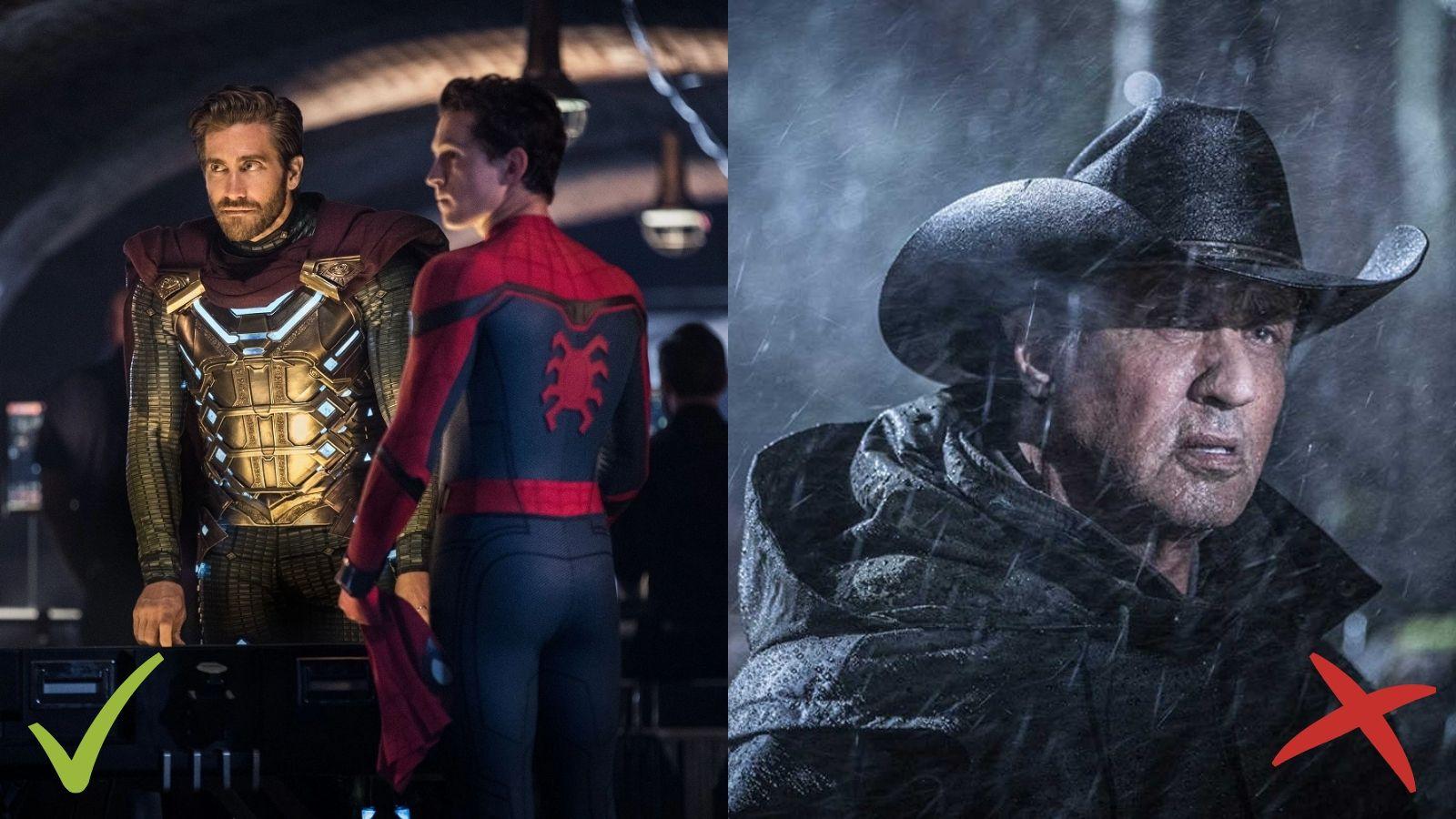 Spider-Man: Far From Home, Rambo: Last Blood, Zirnekļcilvēks: Tālu no mājām, Rembo: Pēdējās asinis